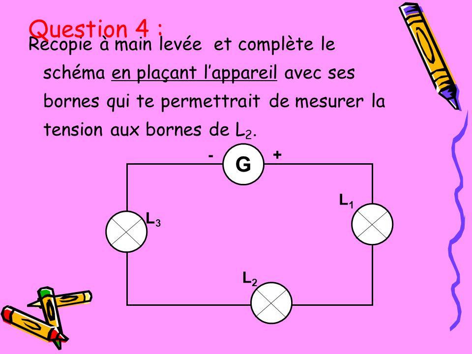 Quel est le nom de lunité de la tension électrique ? Question 5 :