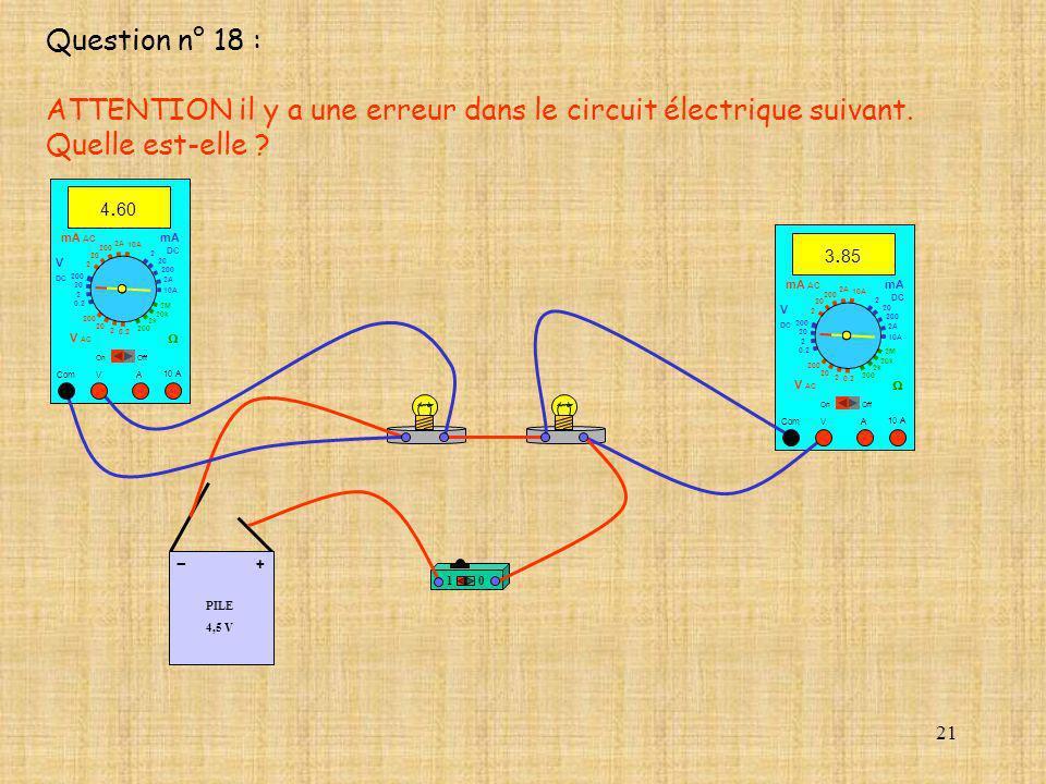 21 PILE 4,5 V + - 10 10 A 3. 85 Com mA DC A OffOn 10A 2A 200 20 V 2 V AC mA AC V DC 2M 20k 2k 200 0.2 2 200 20 2 0.2 2 20 200 10A 2A 200 20 10 A 4. 60