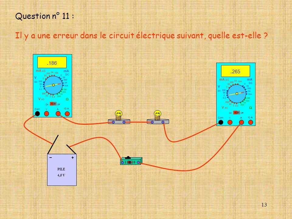 13 PILE 4,5 V + - 10 A. 265 Com mA DC A OffOn 10A 2A 200 20 V 2 V AC mA AC V DC 2M 20k 2k 200 0.2 2 200 20 2 0.2 2 20 200 10A 2A 200 20 10 A. 186 Com