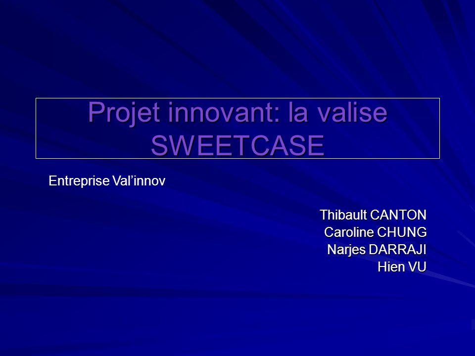 Projet innovant: la valise SWEETCASE Thibault CANTON Caroline CHUNG Narjes DARRAJI Hien VU Entreprise Valinnov