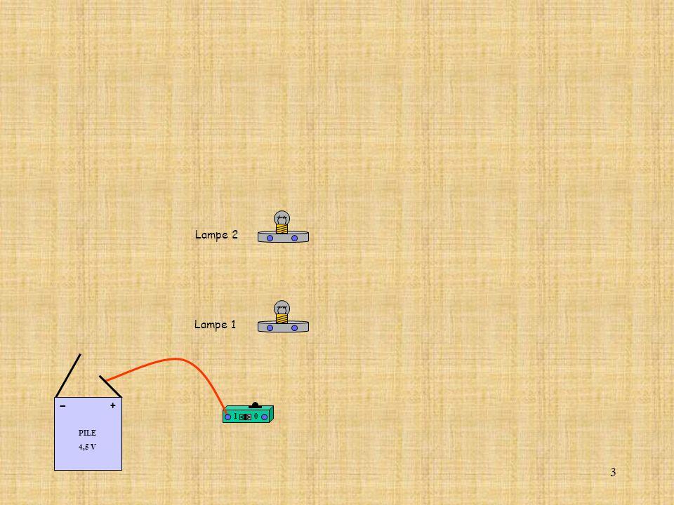 34 Nous pouvons en déduire lintensité du courant électrique qui circule dans la première lampe.