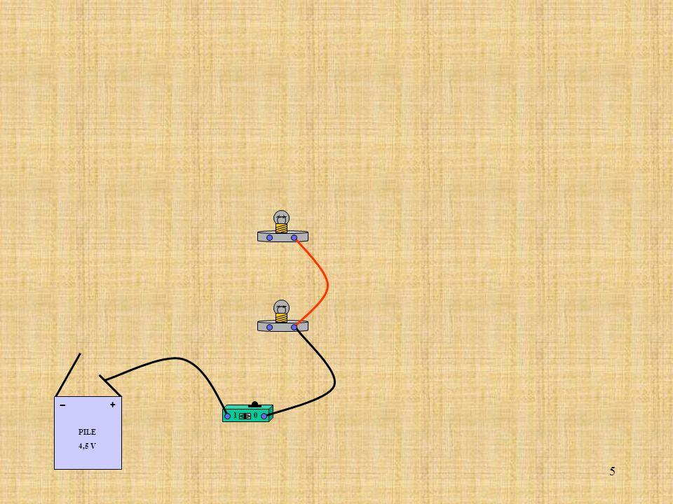 26 Relier le fil correspondant au coté (+) de la pile à la borne (A) de lampèremètre.
