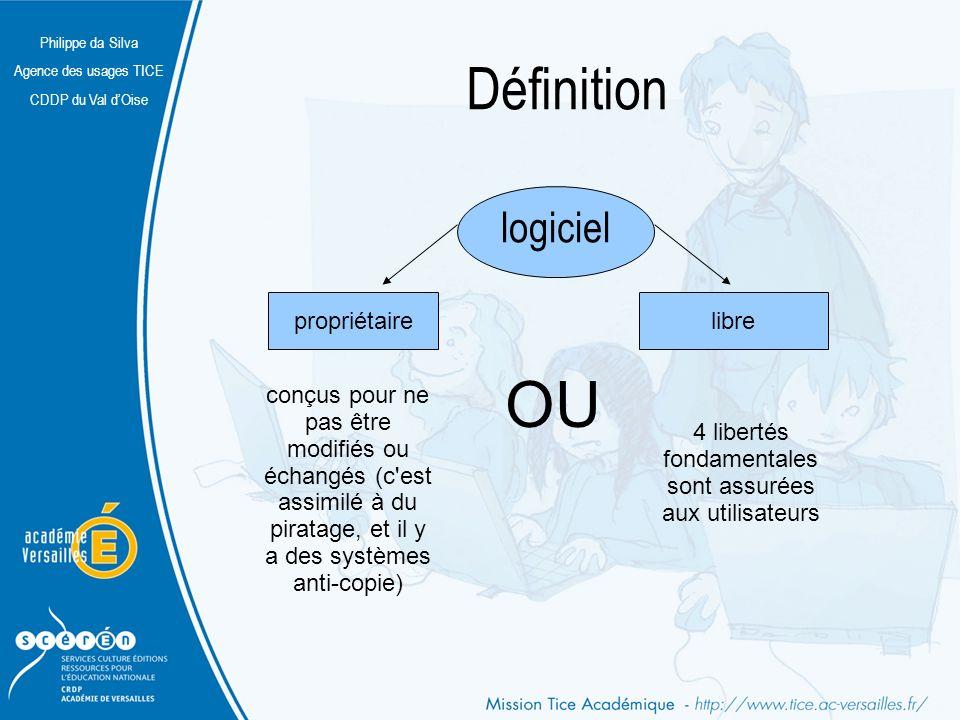 Philippe da Silva Agence des usages TICE CDDP du Val dOise Définition logiciel propriétaire conçus pour ne pas être modifiés ou échangés (c'est assimi