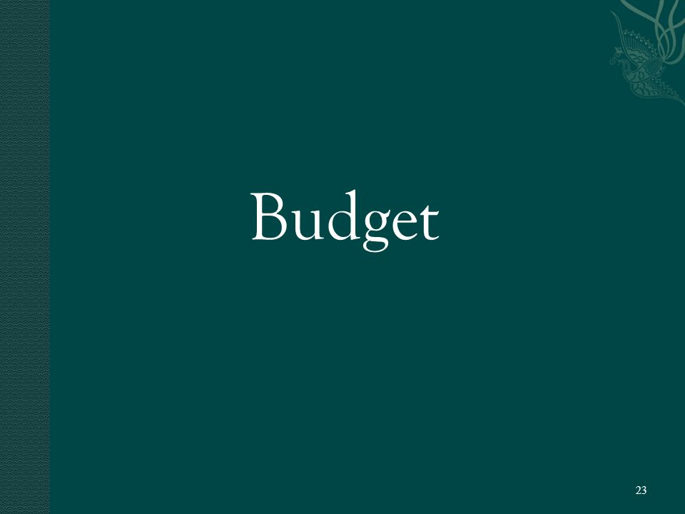 Budget 23