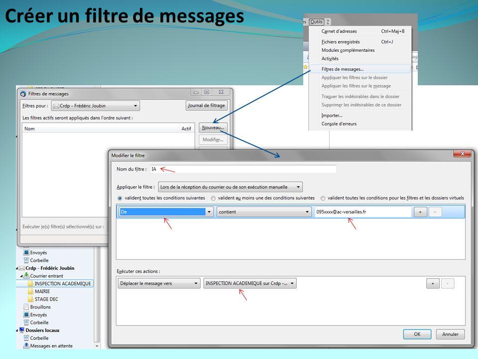 Créer un filtre de messages