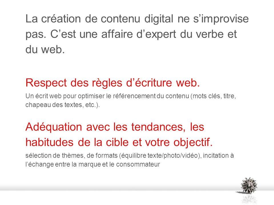 La création de contenu digital ne simprovise pas. Cest une affaire dexpert du verbe et du web.
