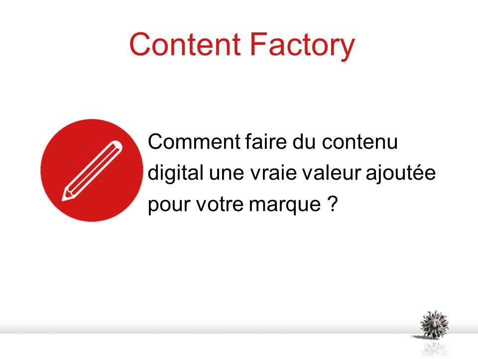 Content Factory Comment faire du contenu digital une vraie valeur ajoutée pour votre marque