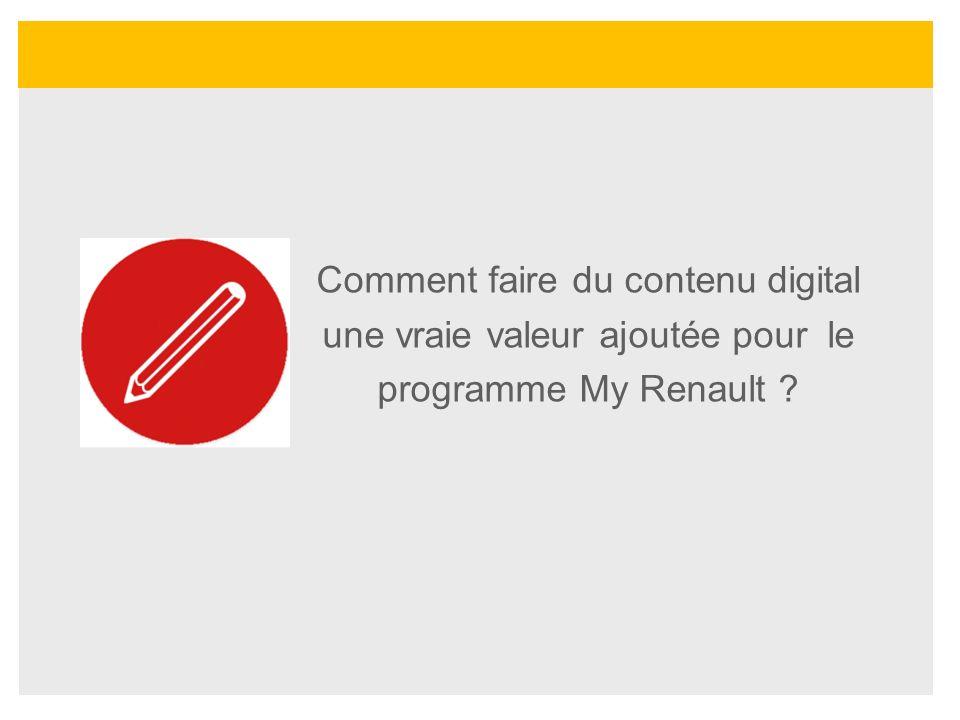 Comment faire du contenu digital une vraie valeur ajoutée pour le programme My Renault ?