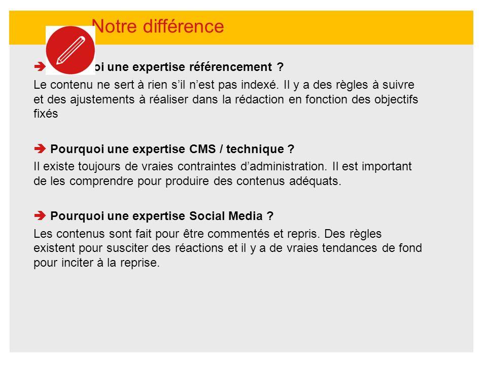 Pourquoi une expertise référencement ? Le contenu ne sert à rien sil nest pas indexé. Il y a des règles à suivre et des ajustements à réaliser dans la