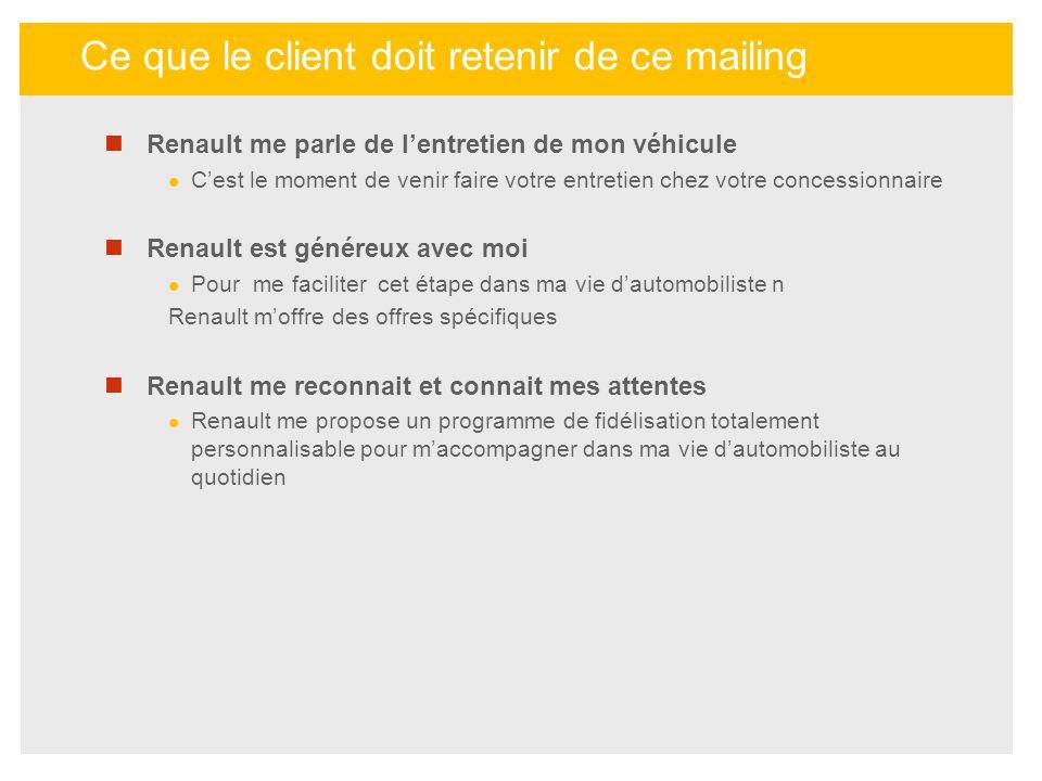Renault me parle de lentretien de mon véhicule Cest le moment de venir faire votre entretien chez votre concessionnaire Renault est généreux avec moi