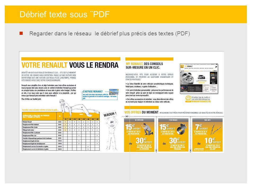 Débrief texte sous ¨PDF Regarder dans le réseau le débrief plus précis des textes (PDF)