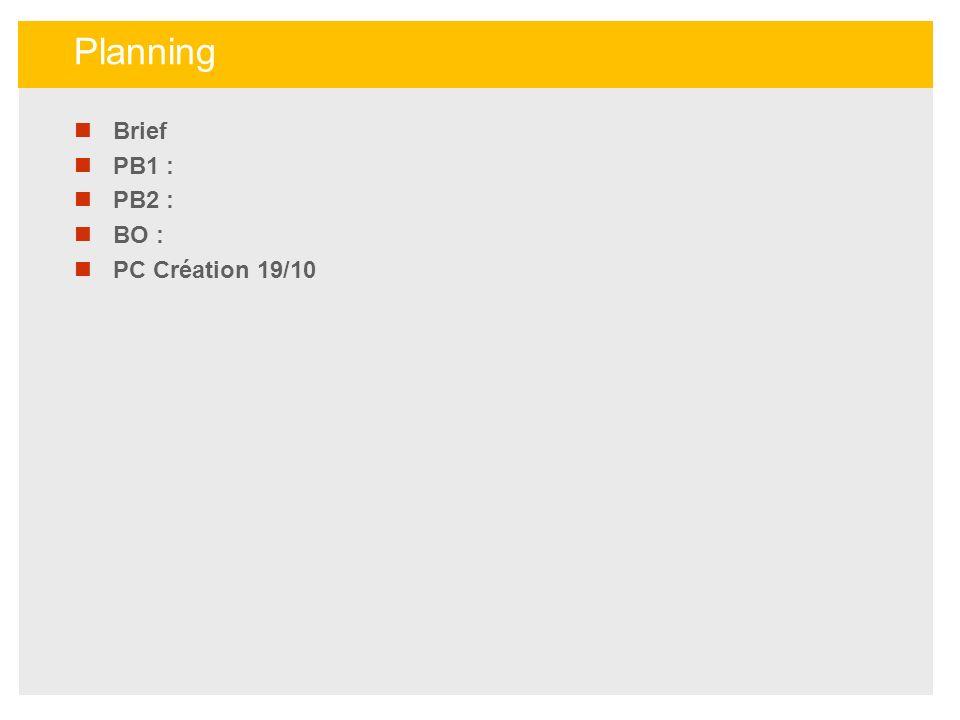 Brief PB1 : PB2 : BO : PC Création 19/10 Planning