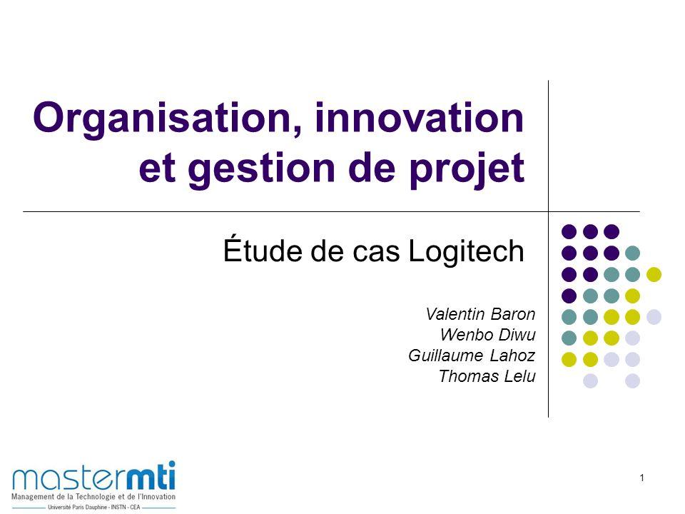 1 Organisation, innovation et gestion de projet Étude de cas Logitech Valentin Baron Wenbo Diwu Guillaume Lahoz Thomas Lelu