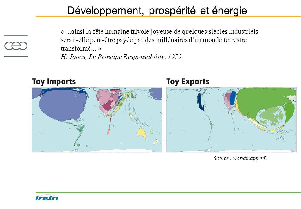 Développement, prospérité et énergie «...ainsi la fête humaine frivole joyeuse de quelques siècles industriels serait-elle peut-être payée par des mil