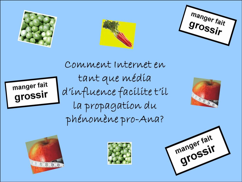 Comment Internet en tant que média dinfluence facilite til la propagation du phénomène pro-Ana?