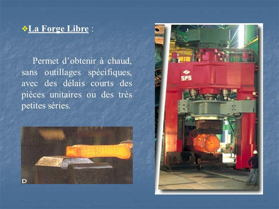 La Forge Libre : Permet dobtenir à chaud, sans outillages spécifiques, avec des délais courts des pièces unitaires ou des très petites séries.