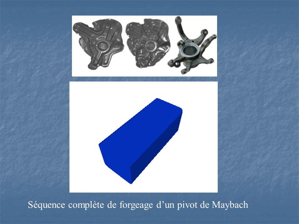 Séquence complète de forgeage dun pivot de Maybach