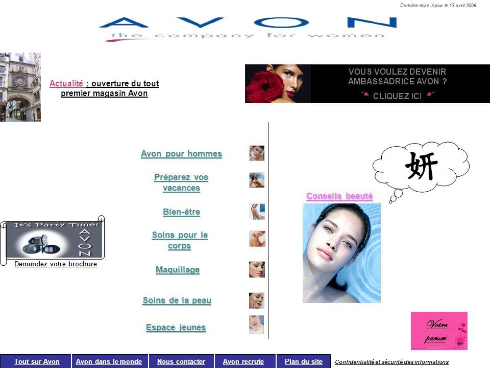 Demandez votre brochure Avon pour hommes Préparez vos vacances Bien-être Soins pour le corps Maquillage Soins de la peau Tout sur Avon Avon dans le mo