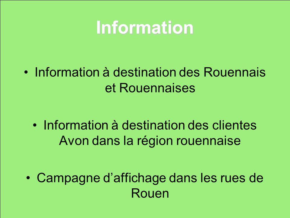 Information Information à destination des Rouennais et Rouennaises Information à destination des clientes Avon dans la région rouennaise Campagne daff