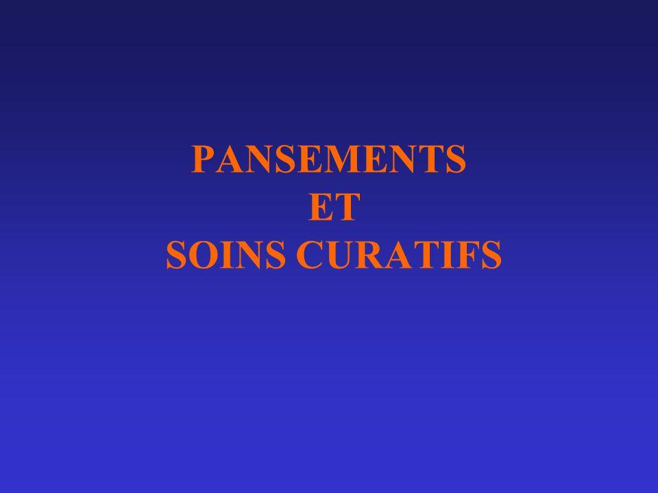 SOINS CURATIFS A.PANSEMENTS ET TOPIQUES: B.