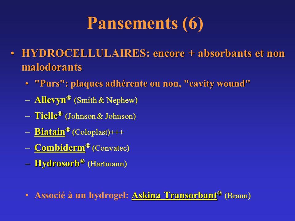 Pansements (6) HYDROCELLULAIRES: encore + absorbants et non malodorantsHYDROCELLULAIRES: encore + absorbants et non malodorants