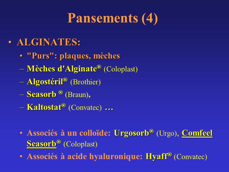 Pansements (4) ALGINATES:ALGINATES: