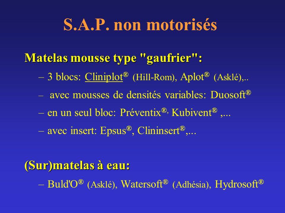 S.A.P. non motorisés Matelas mousse type