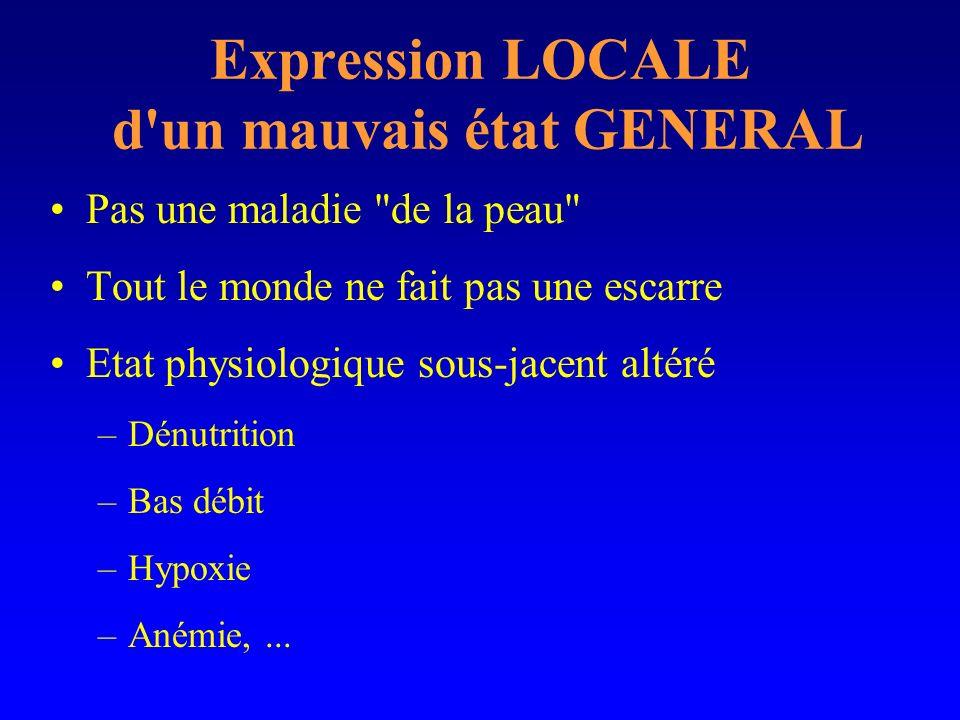 Expression LOCALE d'un mauvais état GENERAL Pas une maladie