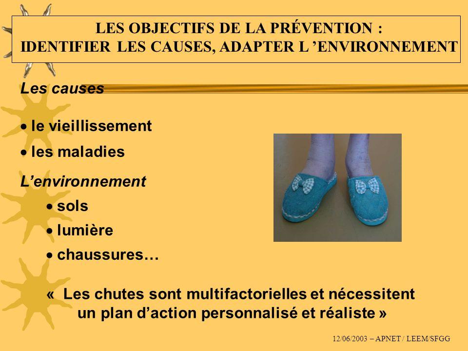 « Les chutes sont multifactorielles et nécessitent un plan daction personnalisé et réaliste » Les causes le vieillissement les maladies Lenvironnement