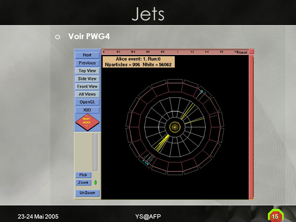23-24 Mai 2005YS@AFP15 Jets o Voir PWG4