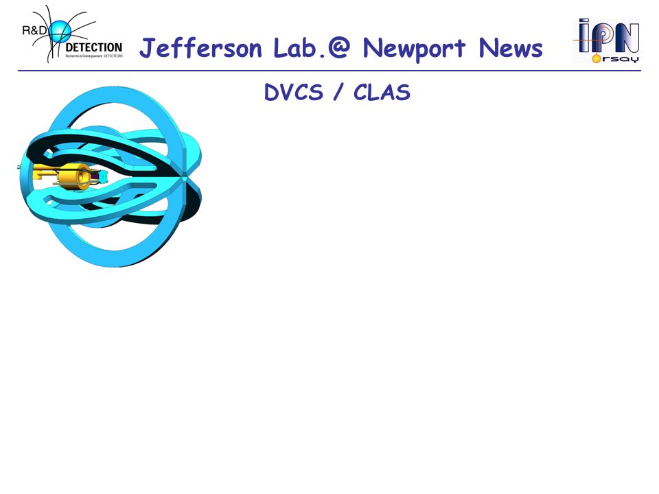 Jefferson Lab.@ Newport News Inner calorimeter (PbWO 4 ) 424 crystals, 160 mm long, APD readout DVCS / CLAS