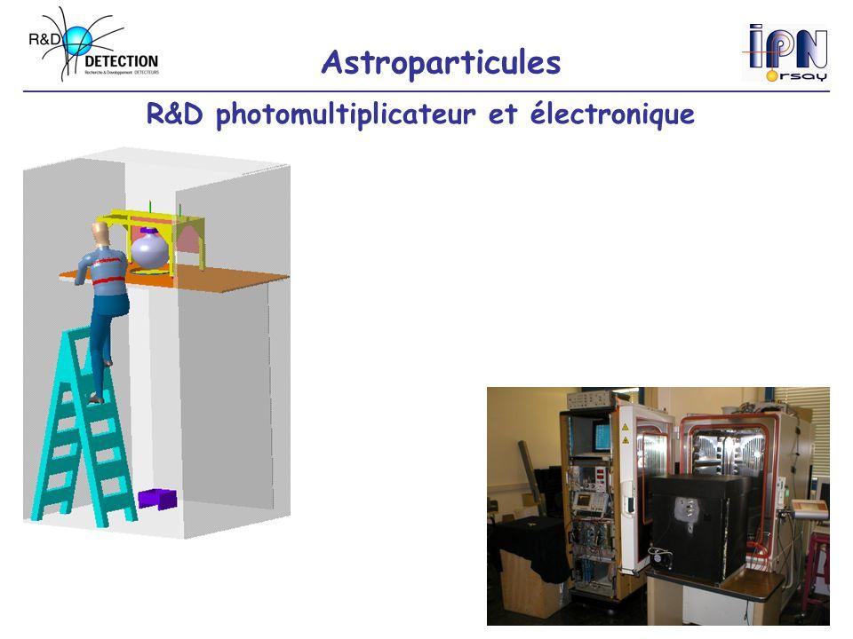 Astroparticules R&D photomultiplicateur et électronique
