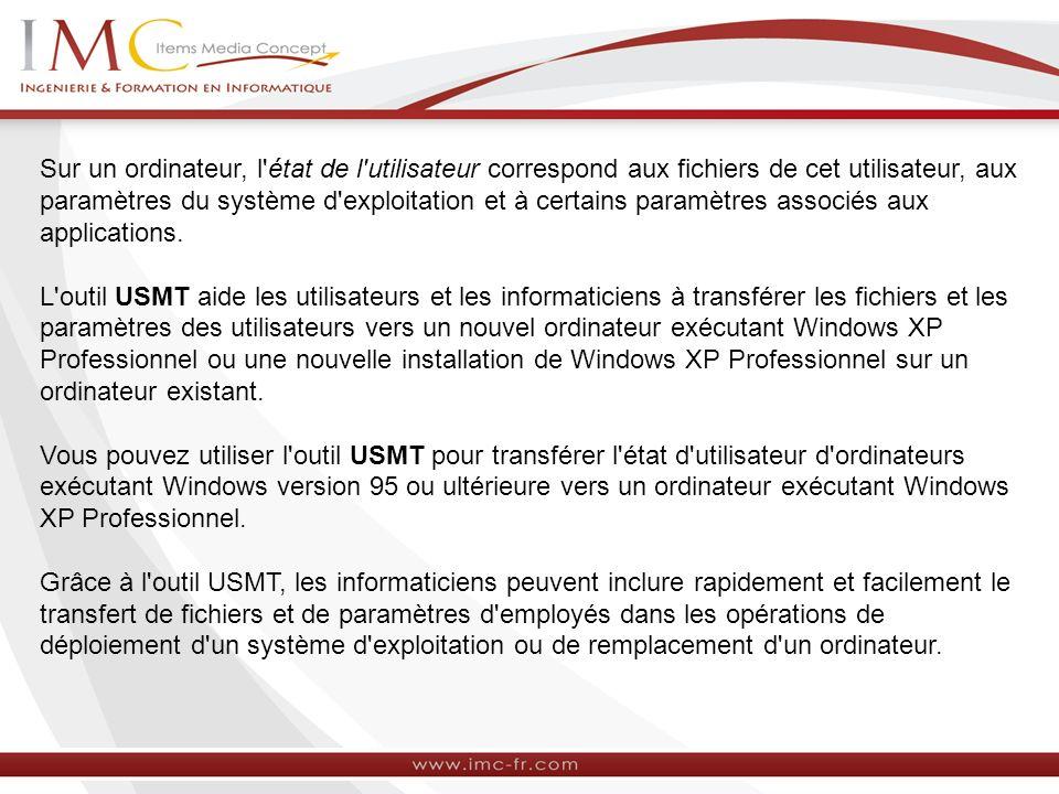 Sur un ordinateur, l'état de l'utilisateur correspond aux fichiers de cet utilisateur, aux paramètres du système d'exploitation et à certains paramètr