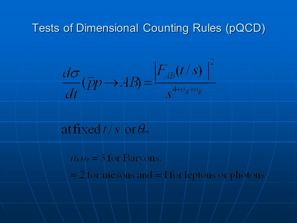 Tests of Dimensional Counting Rules (pQCD)