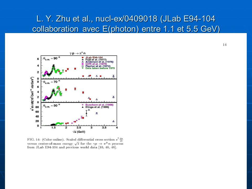 L. Y. Zhu et al., nucl-ex/0409018 (JLab E94-104 collaboration avec E(photon) entre 1.1 et 5.5 GeV)
