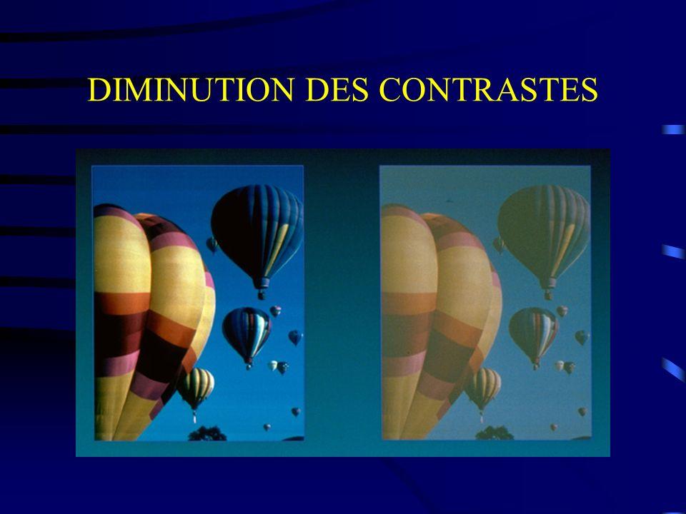 DIMINUTION DES CONTRASTES