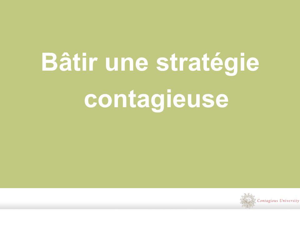Bâtir une stratégie contagieuse