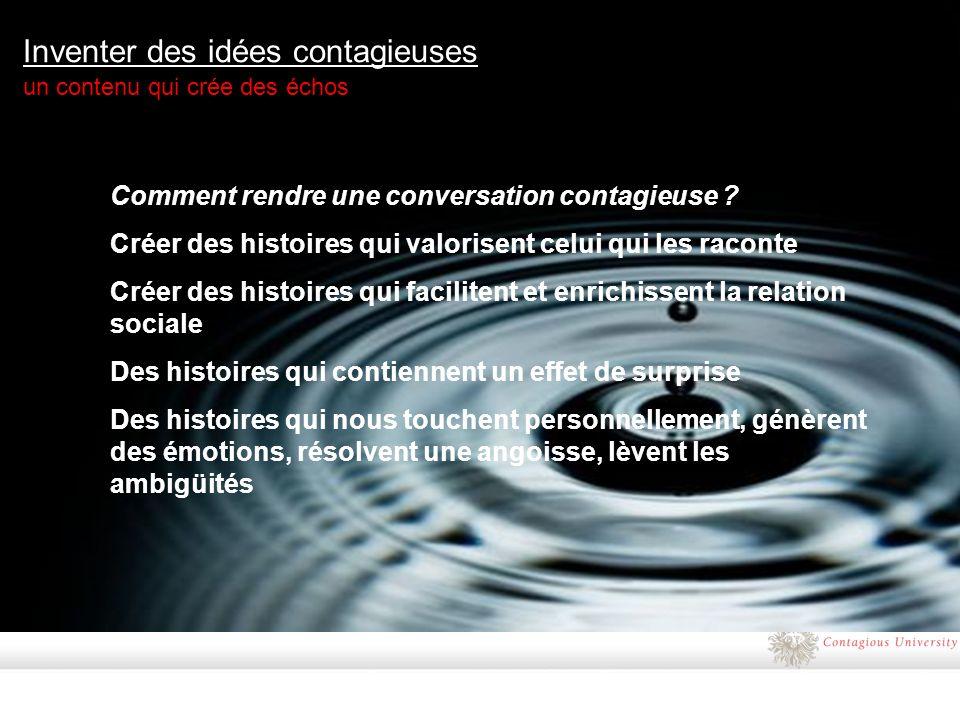 Inventer des idées contagieuses un contenu qui crée des échos Comment rendre une conversation contagieuse .