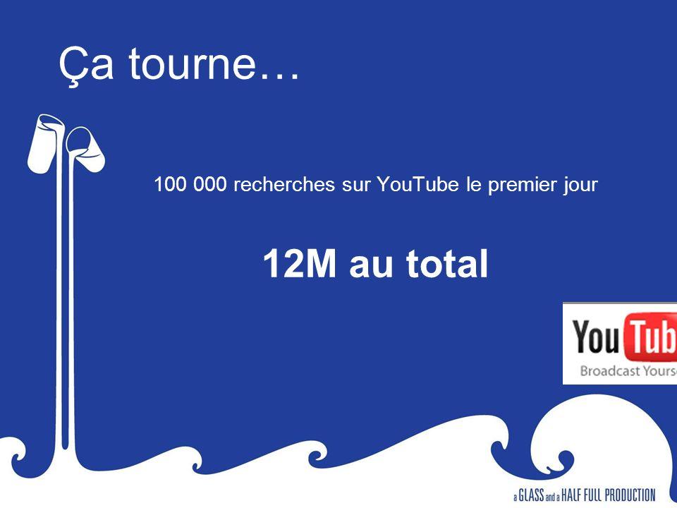 Ça tourne… 100 000 recherches sur YouTube le premier jour 12M au total