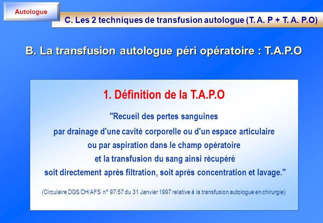 1. Définition de la T.A.P.O
