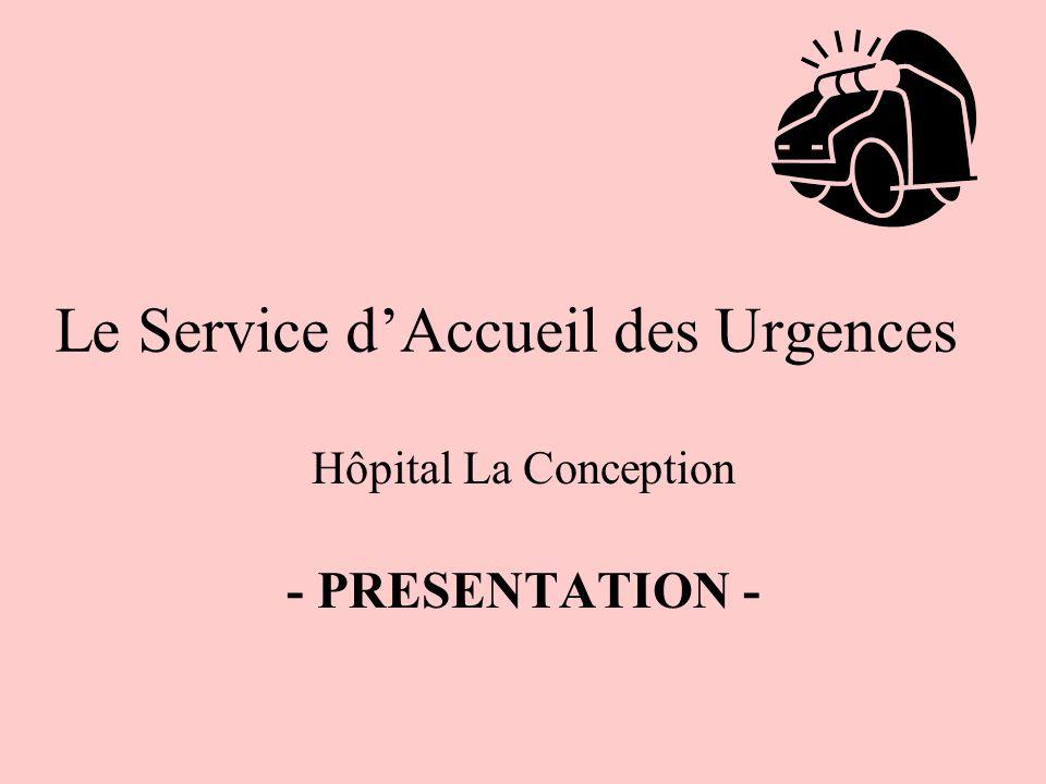 Le Service dAccueil des Urgences Hôpital La Conception - PRESENTATION -