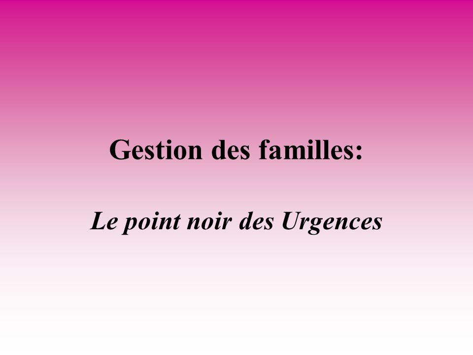 Gestion des familles: Le point noir des Urgences