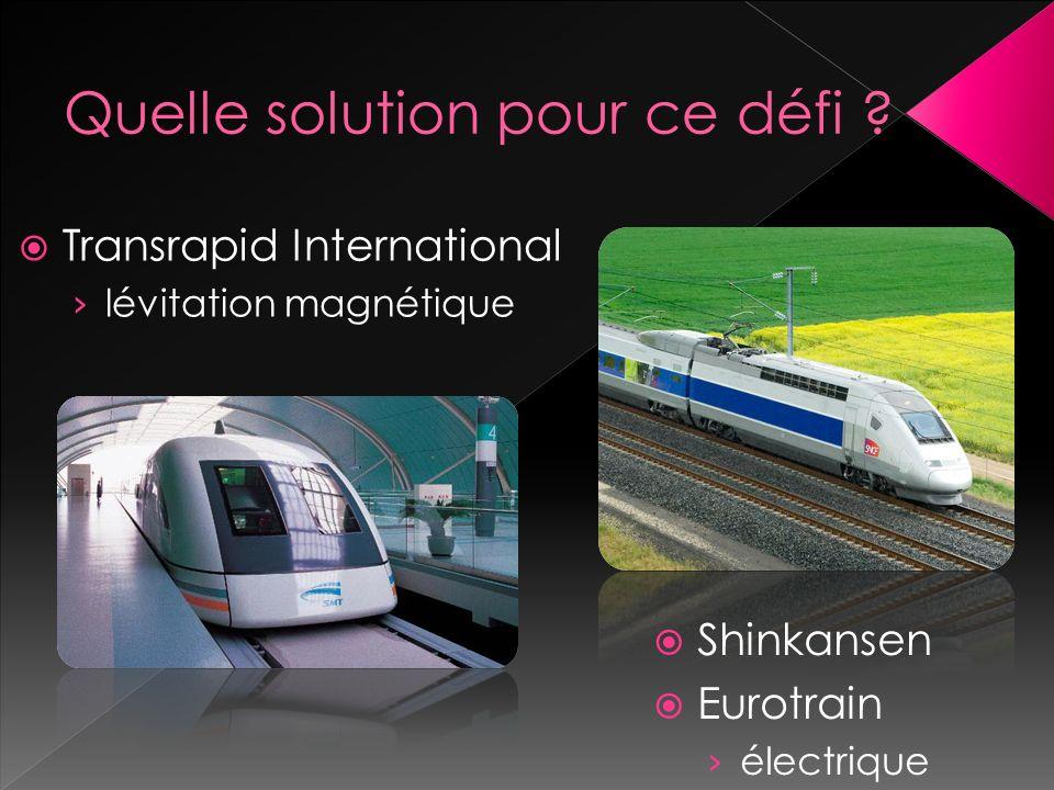 Shinkansen Eurotrain électrique Transrapid International lévitation magnétique