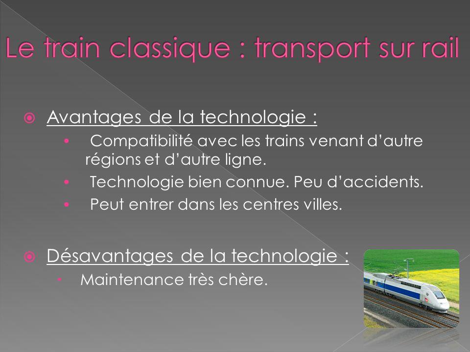 Avantages de la technologie : Compatibilité avec les trains venant dautre régions et dautre ligne.