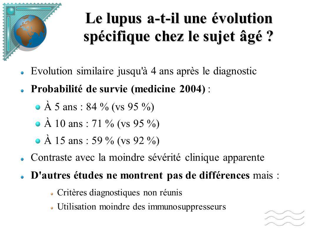 Le lupus a-t-il une évolution spécifique chez le sujet âgé .