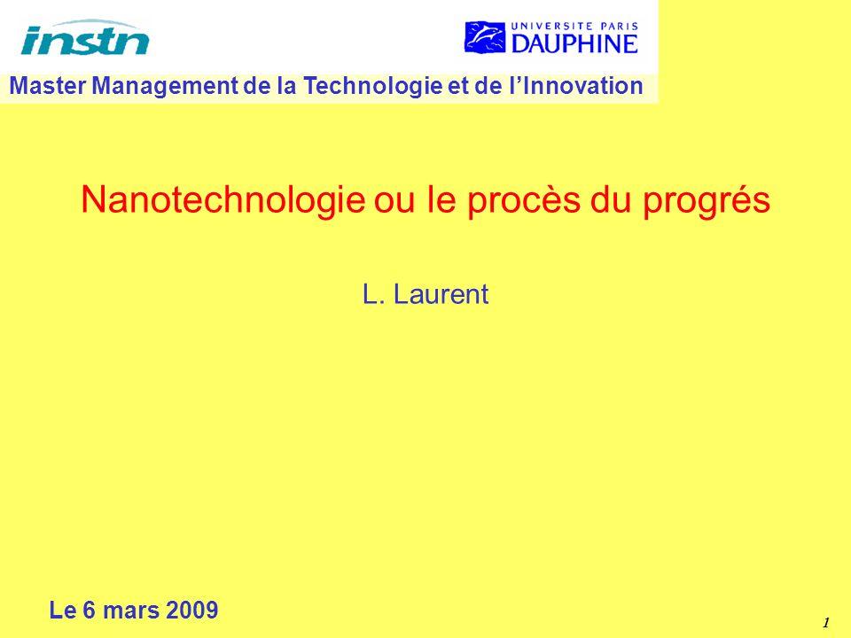 1 Nanotechnologie ou le procès du progrés L.