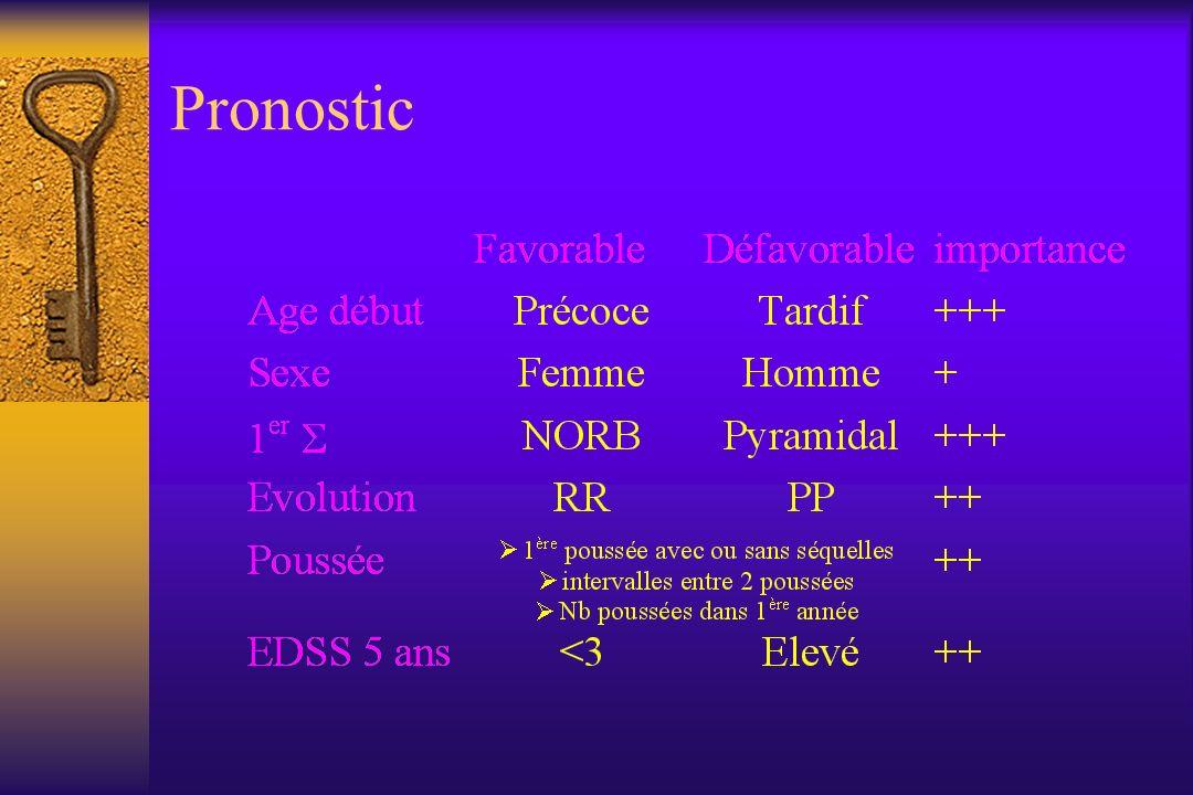 Clinique Les symptômes sont très variés, dépendent de lâge Dans 75% des cas: mono-symptomatique Le plus souvent: – sensitif, oculaire (sujet jeune) – moteur (sujet plus âgé)