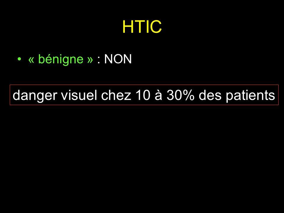 HTIC « bénigne » : NON danger visuel chez 10 à 30% des patients