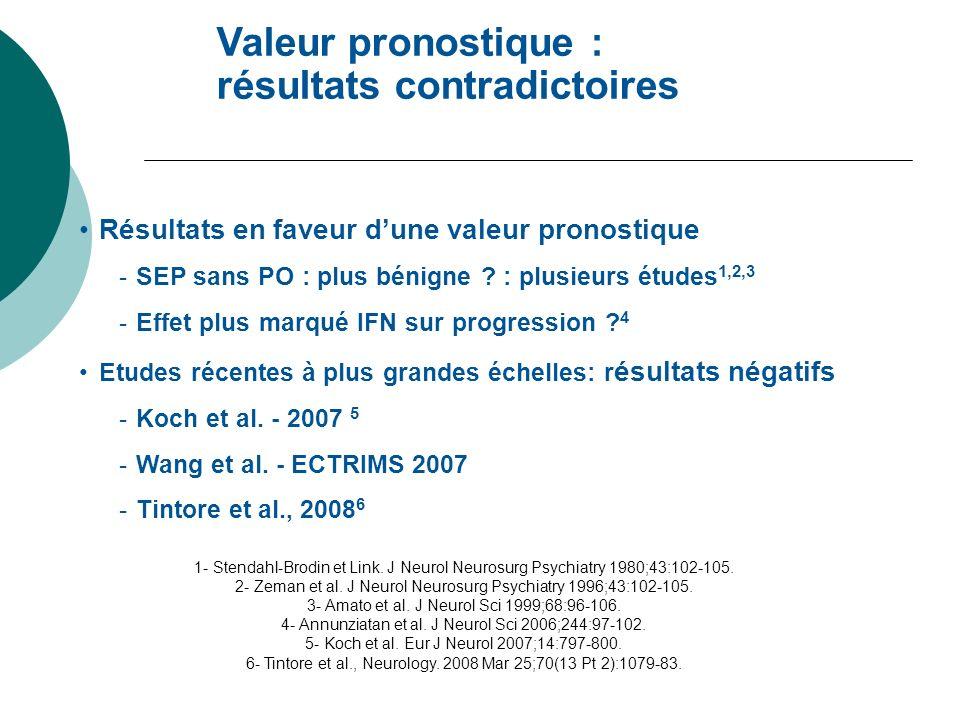 1- Stendahl-Brodin et Link. J Neurol Neurosurg Psychiatry 1980;43:102-105. 2- Zeman et al. J Neurol Neurosurg Psychiatry 1996;43:102-105. 3- Amato et