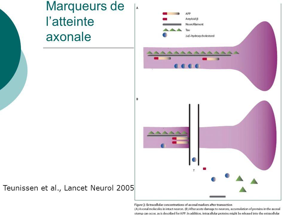 Marqueurs de latteinte axonale Teunissen et al., Lancet Neurol 2005